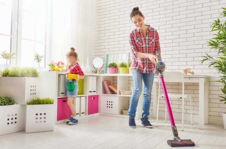 efficient room cleaning